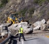 One Lane of California's Highway 1 To Open Briefly Today; Crews Continue Clearing Rock Slide